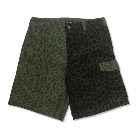 Mix Short Pants <Leopard x Rain Camo>