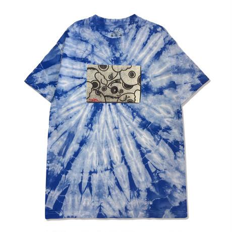 Canvas S/S Tee <Tiedye Blue>