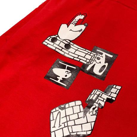 Brick Logo Hoodie  <Red>