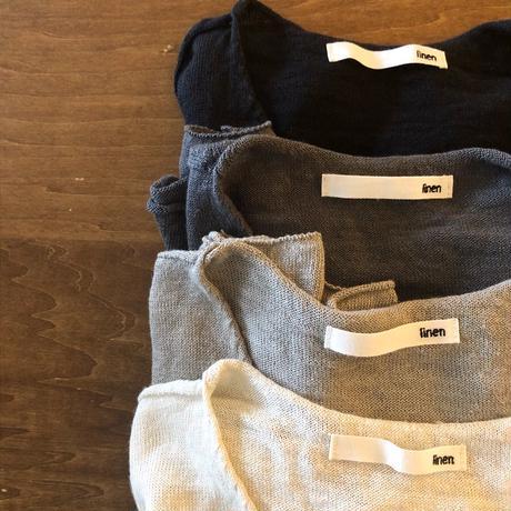 evameva  (エバムエバ) washable linen V neck pullover