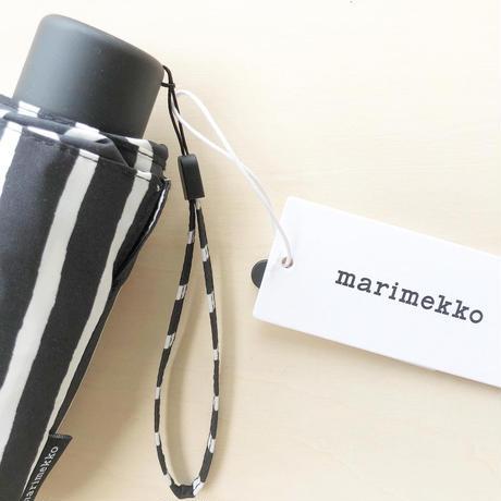 marimekko  折りたたみ傘 Piccolo (ピッコロ) col.99 BK×WH
