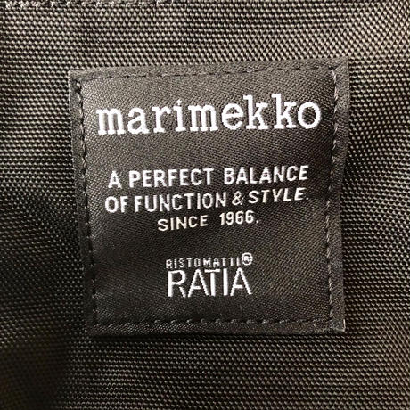marimekko CASH&CARRY ショルダーバッグ col.99 BK