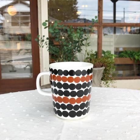 marimekko マグカップ Siirtolapuutarha(シイルトラプータルハ) col.85 WH×BR×BK