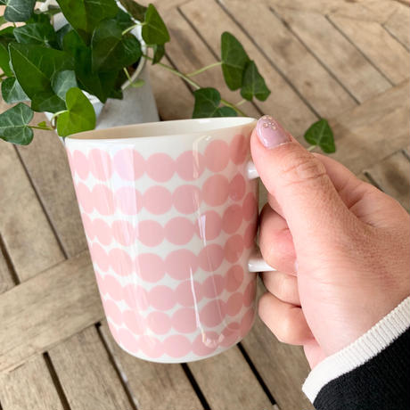 marimekko マグカップ Siirtolapuutarha(シイルトラプータルハ) col.72 PK×WH