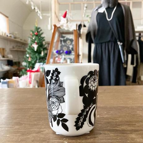 marimekko マグカップ Siirtolapuutarha (シイルトラプータルハ)  col.99 BK×WH