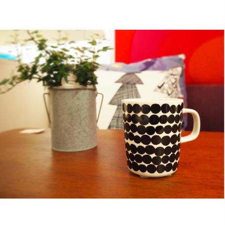 marimekko マグカップ Siirtolapuutarha(シイルトラプータルハ) col.99 BK×WH