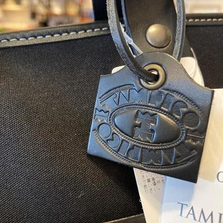 TAMPICO (タンピコ) GARDEN BAG ROND  cotton col.BK×GALET