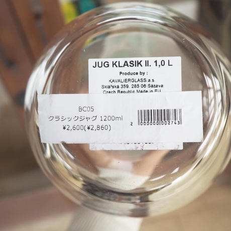 BC05 lino e lina (リーノ・エ・リーナ) BOHEMIA Cristal クラシック ジャグ 1200ml