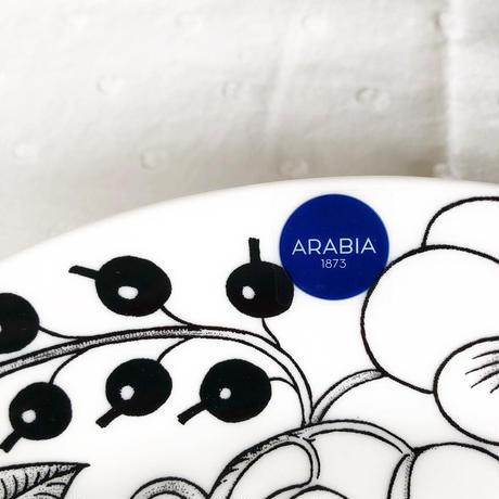 ARABIA Paratiisi (パラティッシ) プレート 21cm col.BK