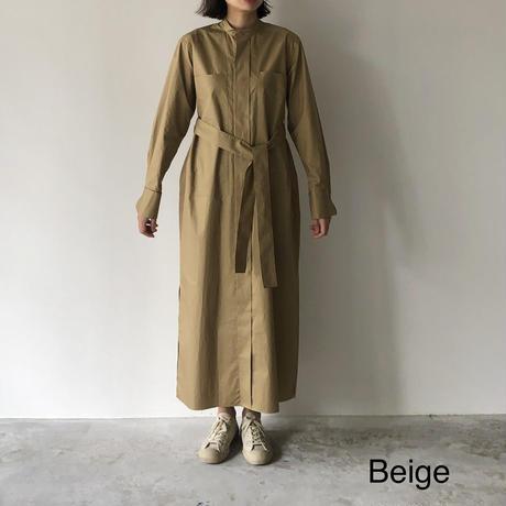POSTELEGANT / HIGH COUNT COTTON LONG SHIRT DRESS
