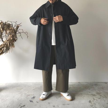 STUDIO NICHOLSON / ROMER - TECHNICAL COTTON RAGLAN MID LENGTH MAC (DARK NAVY)