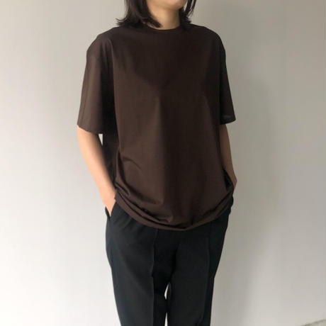 POSTELEGANT / High Gauge Cotton Tee (Dark Brown)