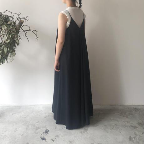POSTELEGANT / HIGH COUNT COTTON CAMI DRESS(NAVY)