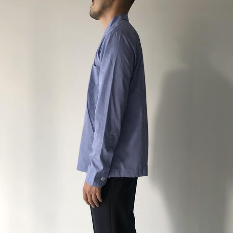 STUDIO NICHOLSON / MAMATA - FINE STRIPE LONG SLEEVE SHIRT