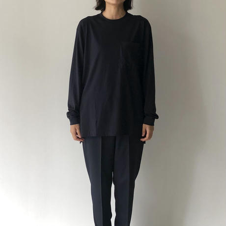 POSTELEGANT / SUVIN COTTON LONG SLEEVE POCKET TEE