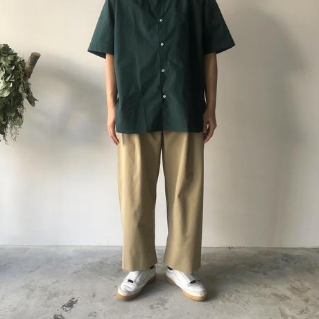 STUDIO NICHOLSON / SORTE - PEACHED COTTON TWILL VOLUME PANTS (TAN)