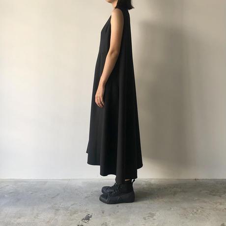 STUDIO NICHOLSON - VIRGIN WOOL DARTED DRESS (BLACK)
