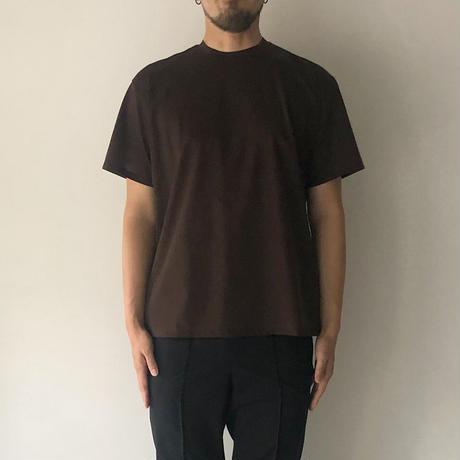 POSTELEGANT / High Gauge Cotton Tee (Dark Brown)