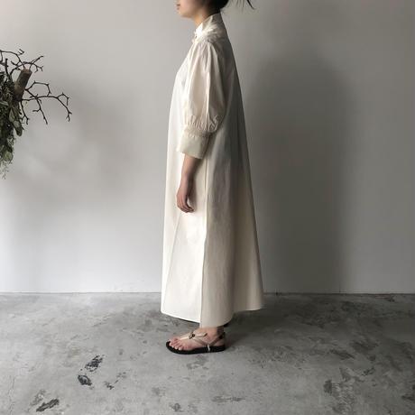 STUDIO NICHOLSON - KNOLL SHIRT DRESS (MILK)