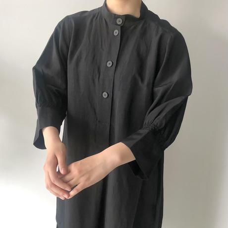 STUDIO NICHOLSON / KNOLL - SHIRT DRESS (BLACK)
