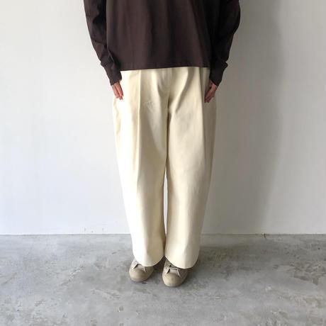 STUDIO NICHOLSON / DORDONI - PEACHED COTTON TWILL VOLUME PANTS