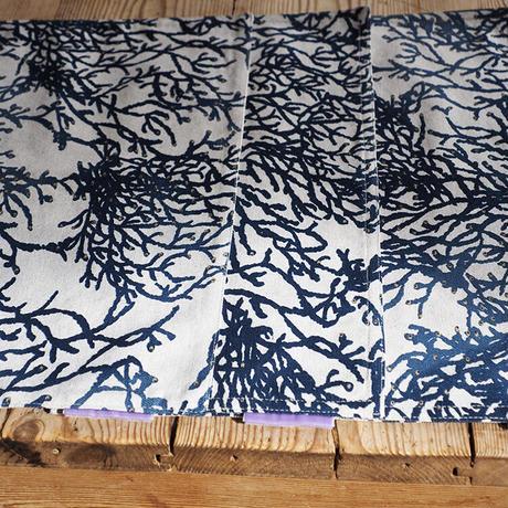 ランチョンマット(珊瑚紺✕ストライプ)4枚セット