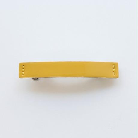 patent leather barrette small / yellow