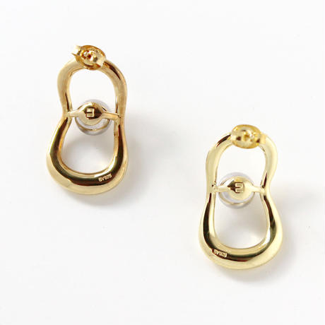 sphere ring pierce/gold