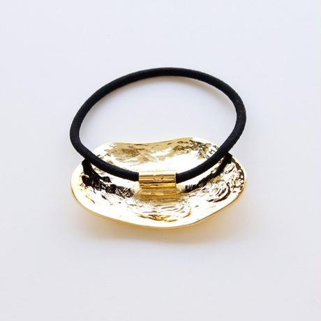 wave hair tie / gold