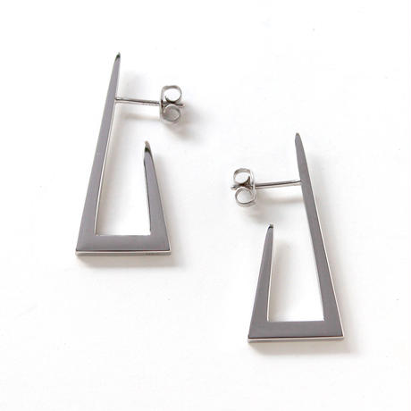 square pierce/silver