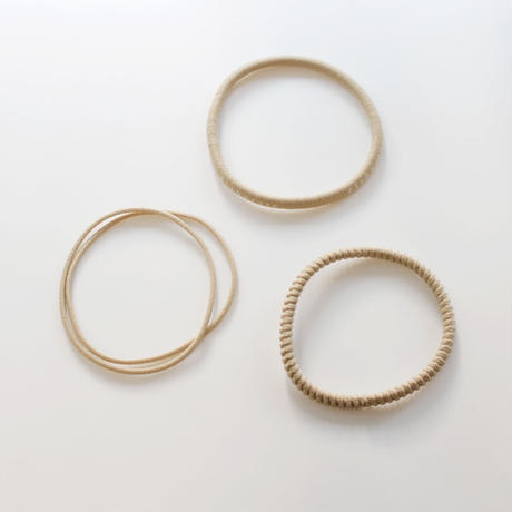 base hair tie  / beige