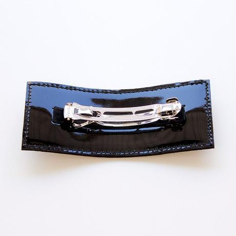 patent leather barrette big / black