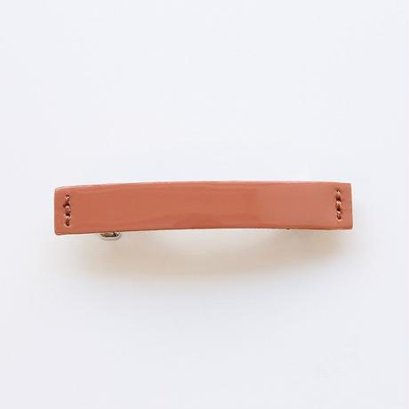 patent leather barrette small / pink