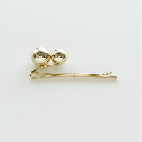 twin sphere float-pin / gold
