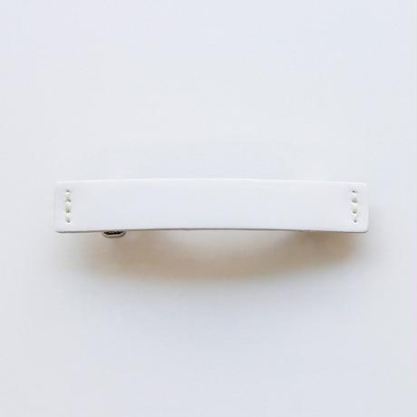 patent leather barrette small / white