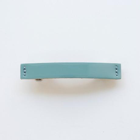patent leather barrette small / blue