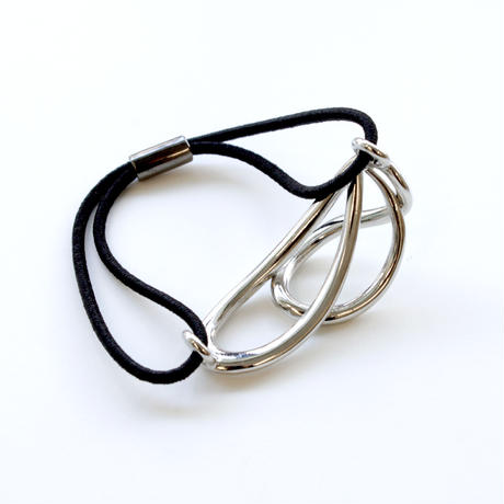 flowing hair tie / silver