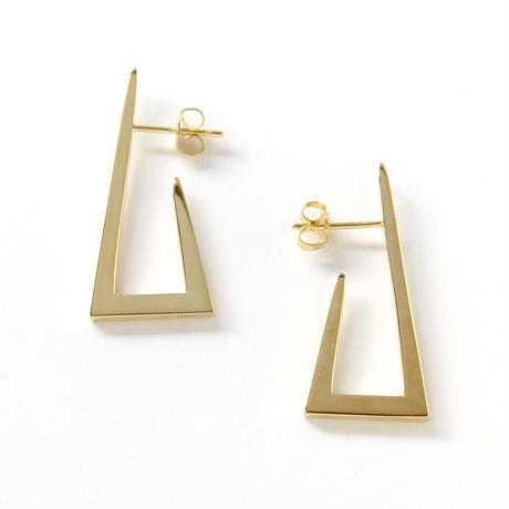 square pierce/gold
