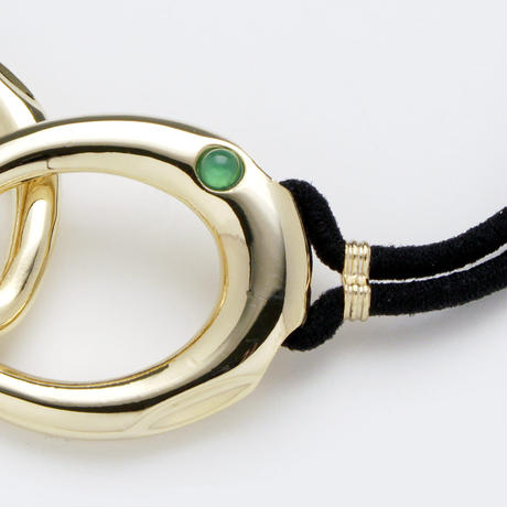 Poterie hair tie / gold