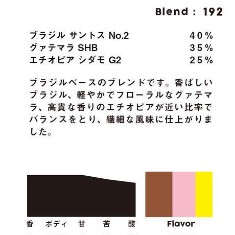 個人ブレンドコーヒー 192の定期プラン
