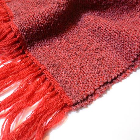 手織りマフラー(ワイン)