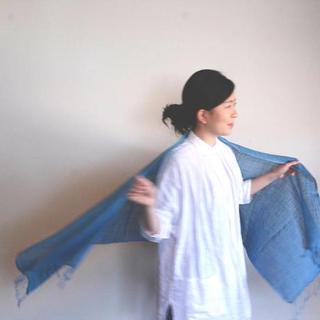 手染めストール(藍染)
