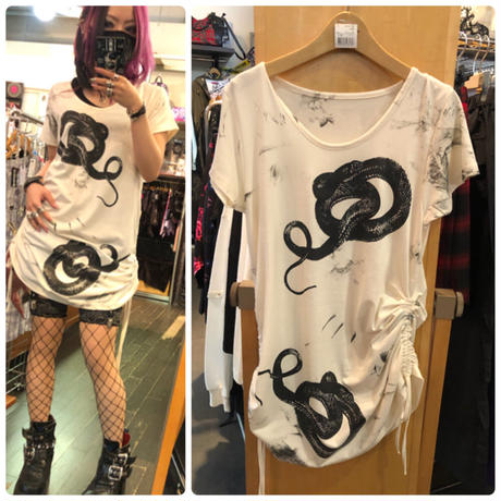 【h.NAOTO】Snake T-SH/CNF29-T194 WH/M