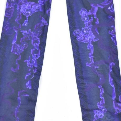 【h.NAOTO】Bloody Rose tights/CNJ22-G096 BK-PUR/F