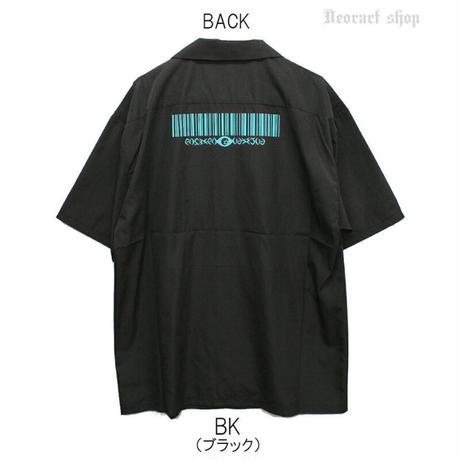 【Deorart】切替 バイカラー ロング丈 開襟シャツ 五分袖(DRT2562)