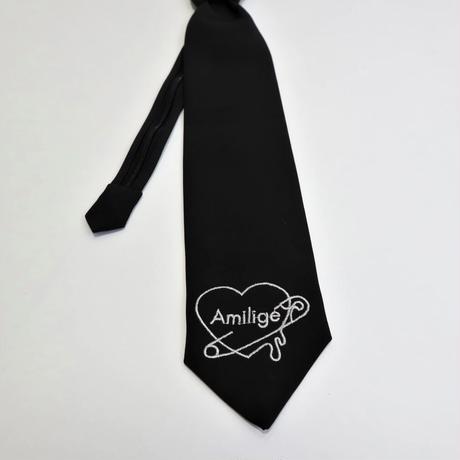 【Amilige】ハートロゴ刺繍ネクタイ(82190263051)