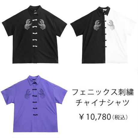 【LISTEN FLAVOR】フェニックス刺繍チャイナシャツ(2113535)