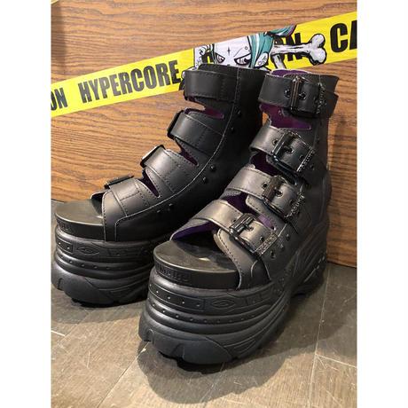 【YOSUKE.U.S.A】厚底ブーツサンダル/黒(2601060)