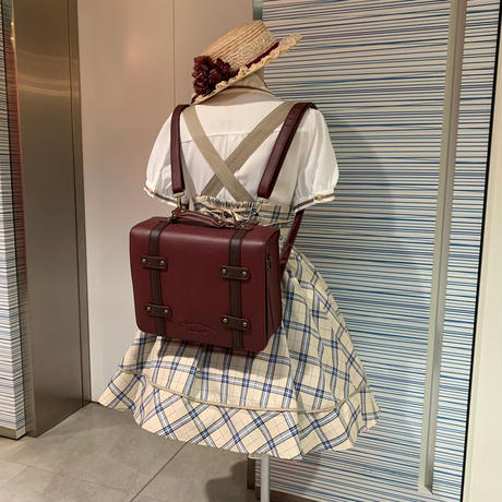 【Amavel】アンティークトランクサッチェルバッグ