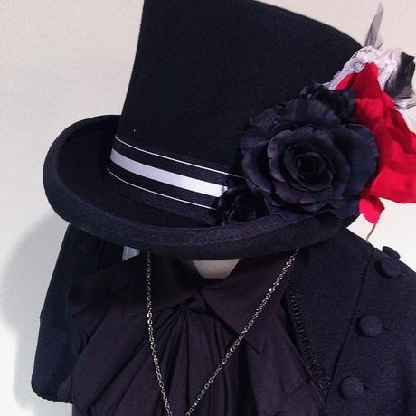 【Ruha Garden】シルクハット(1点もの)/H10-12